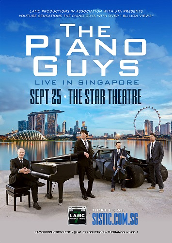The Piano Guys Singapore 2018-Singapore Piano Shop & Music Book